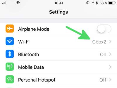 How to find your Router IP on iPhone - step2: go to Wi-Fi settings